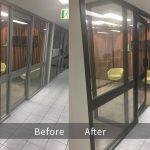 Repainting Aluminium Door Before & After