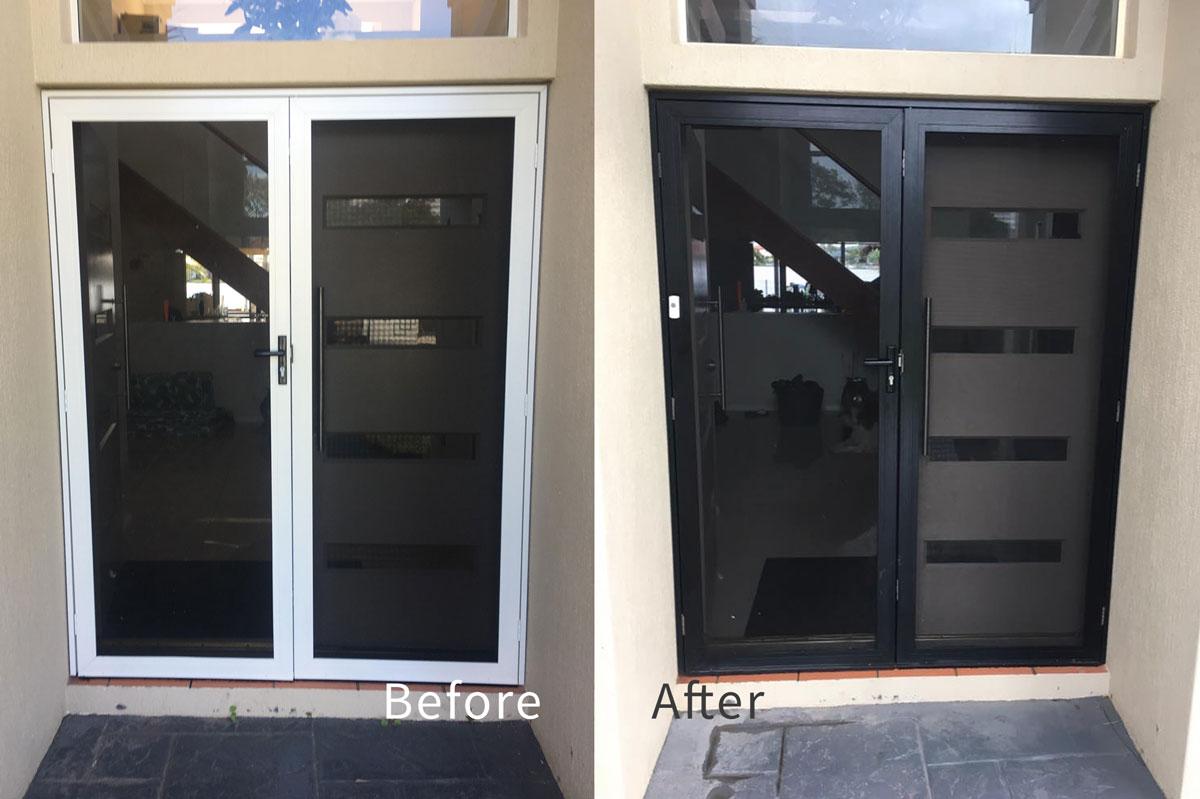 Aluminium Door Recolouring