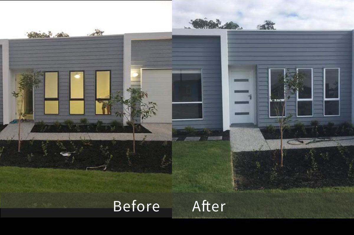 Aluminium windows repainting