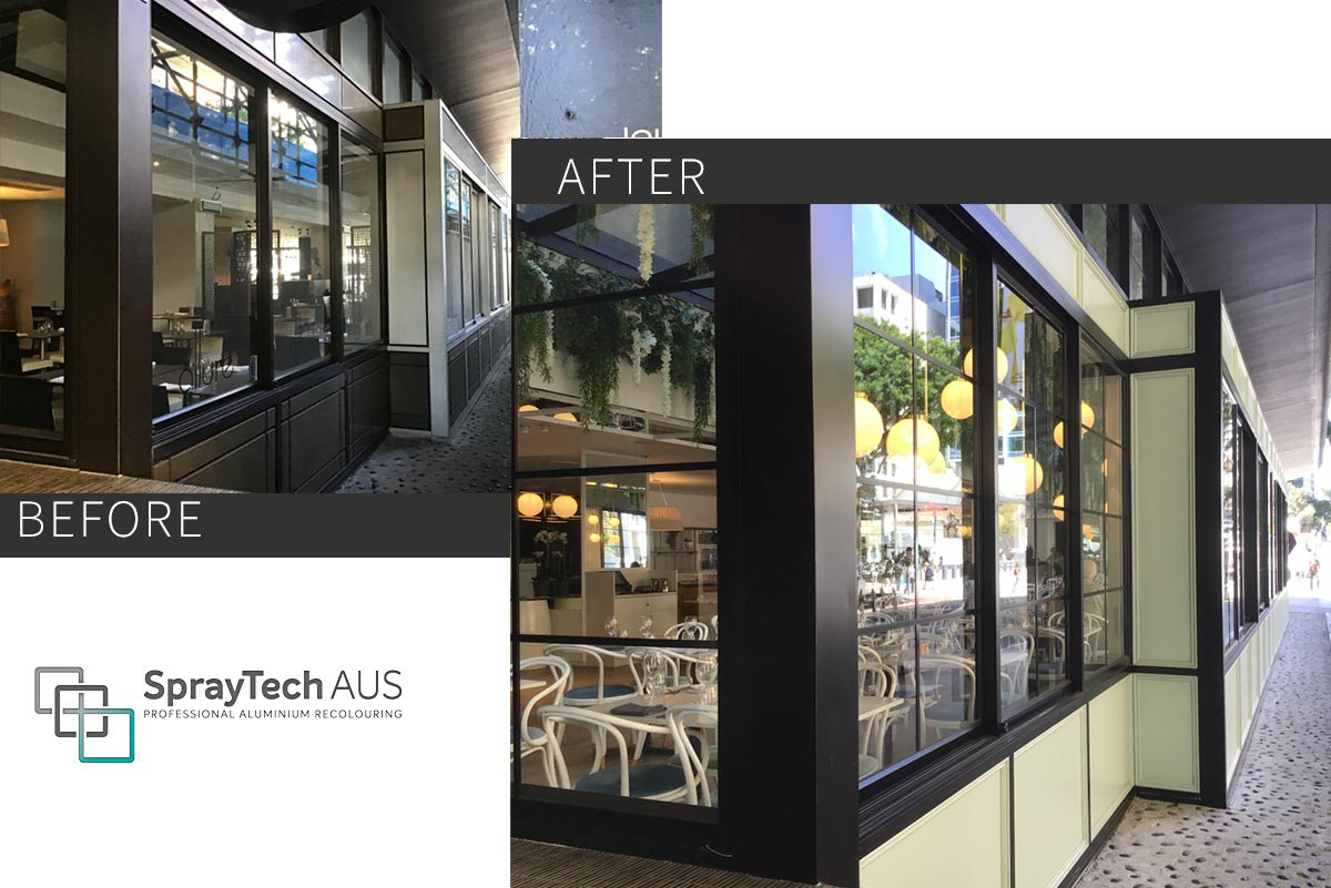 Commercial Property - Repainting Aluminium Windows